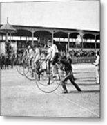 Bicycle Race, 1890 Metal Print