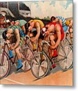 Bicycle Race 1895 Metal Print