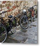 Bicycles In Rome Metal Print