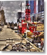 Bicycles In Rotterdam, Netherlands Metal Print