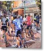 Bicycles On Broadway Metal Print