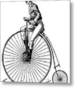 Bicycling, C1890 Metal Print by Granger