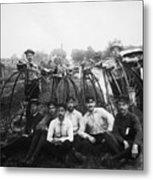 Bicyle Riders, C1880s Metal Print