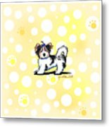 Biewer Terrier Banana Cream Metal Print