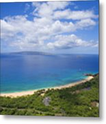 Big Beach Aerial Metal Print