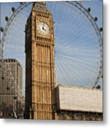 Big Ben And Eye Metal Print by Donald Davis