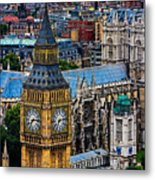 Big Ben And Westminster Abbey Metal Print