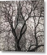 Big Ben From The Square Metal Print