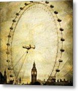 Big Ben In The London Eye Metal Print