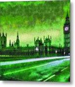 Big Ben London - Da Metal Print