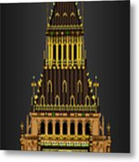 Big Ben Striking Midnight Metal Print