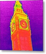 Big Ben, Uk, Thermogram Metal Print by Tony Mcconnell