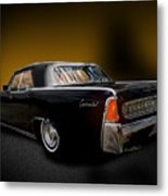 Big Black Lincoln Rag Top Metal Print
