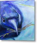 Big Blue Bird Metal Print