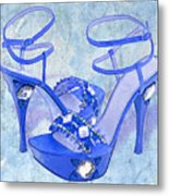 Big Blue Bling  Metal Print