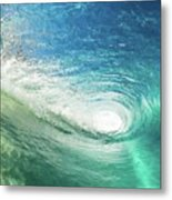 Big Blue Eye Metal Print