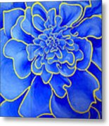 Big Blue Flower Metal Print by Geoff Greene