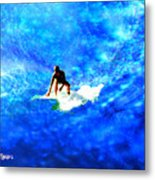 Big Blue Metal Print