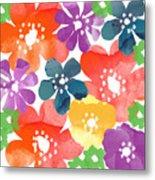 Big Bright Flowers Metal Print