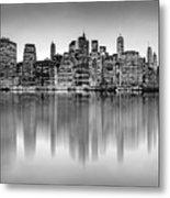 Big City Reflections Metal Print