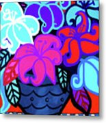 Big Colorful Lillies 2 Metal Print
