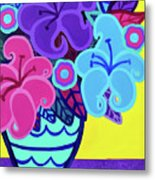 Big Colorful Lillies Metal Print