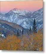 Big Cottonwood Canyon Wasatch Sunrise Metal Print