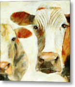 Big Cow Little Cow Metal Print
