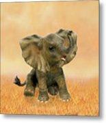 Beautiful African Baby Elephant Metal Print