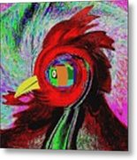 Big Fat Red Hen Metal Print