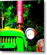Big Green Tractor 2 Metal Print