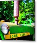 Big Green Tractor Metal Print