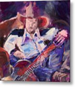 Big Hat Big Guitar Metal Print