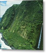 Big Island Waterfall Metal Print