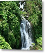 Big Island Waterfall Metal Print