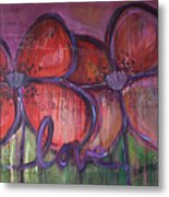 Big Love Poppies Metal Print