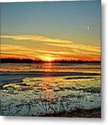 Big Marsh Sunset 2 Metal Print