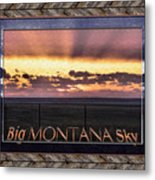 Big Montana Sky Metal Print
