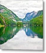 Big Mountain Reflections In Patterson Bay Alaska Metal Print