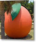Big Orange At Melbourne On The East Coast Of Florida Metal Print