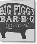 Big Piggy Bar B Q  Metal Print