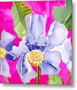 Big Pink  Flowers Metal Print
