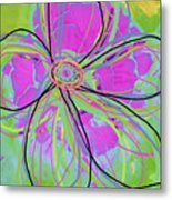 Big Pop Floral IIi Metal Print by Ricki Mountain