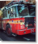 Big Red Engine 24 - Fdny - Firefighters Of New York Metal Print