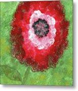 Big Red Flower Metal Print