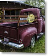 Big Red Ford Truck Metal Print