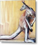 Big Red  Kangaroo Metal Print