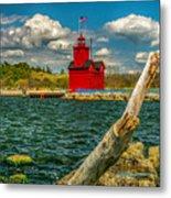 Big Red Lighthouse In Michigan Metal Print