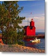 Big Red Lighthouse Metal Print