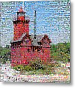Big Red Photomosaic Metal Print